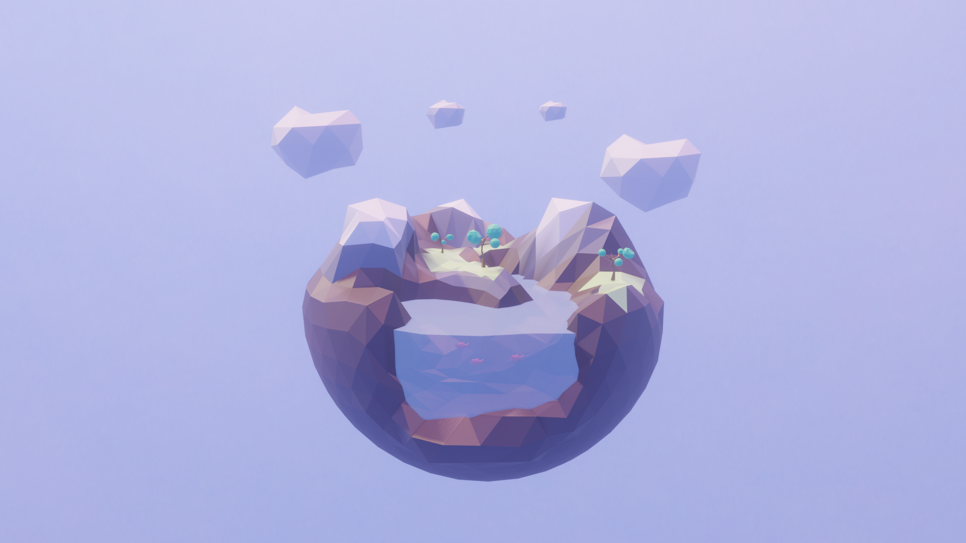lowpoly planet 02